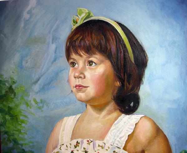 портрет фото маслом